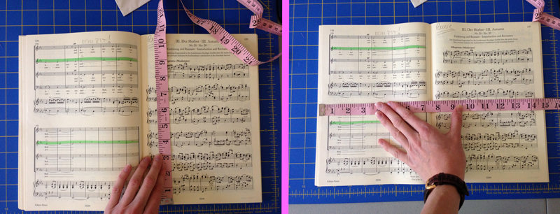 measuring your sheet music