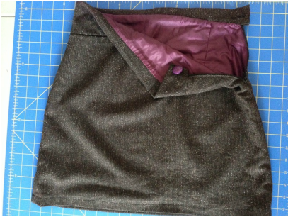 charmed Liebling winter skirt with purple lining