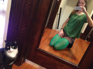 charmed Liebling St. Patty's Day outfit with Oscar