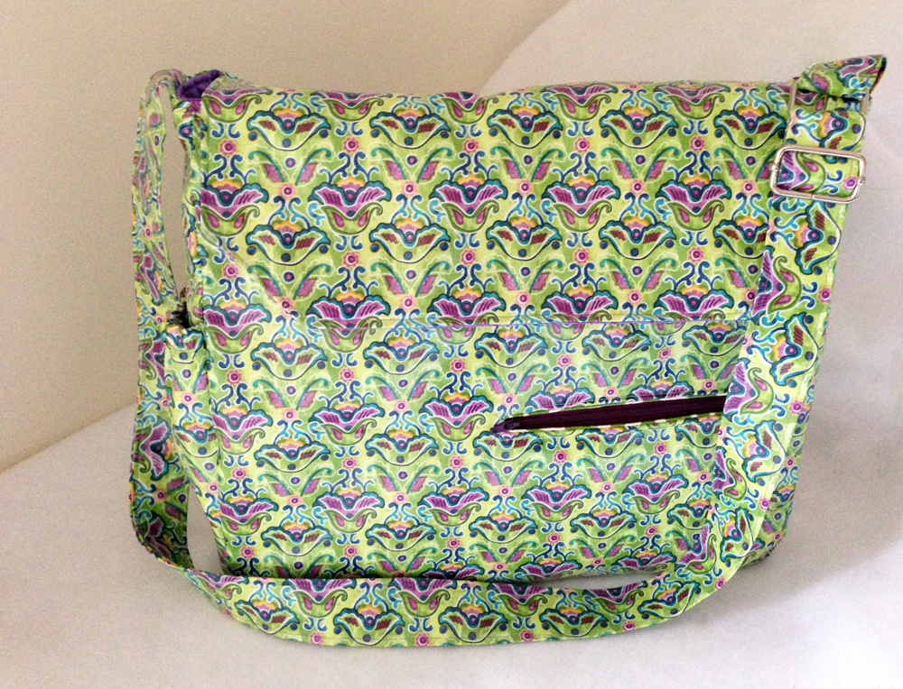 charmed Liebling messenger bag laminated cotton