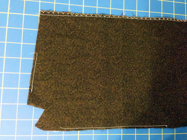 Roc-Lon Multipurpose Cloth basted to bag exterior
